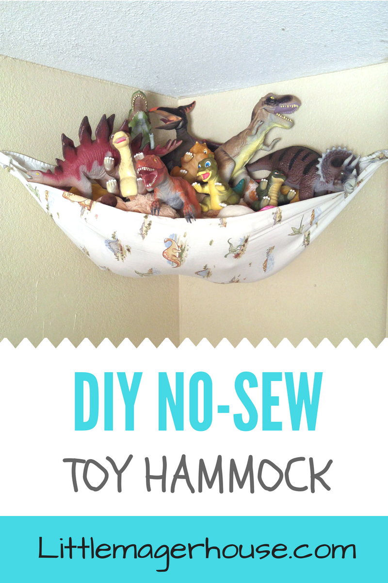 Diy Toy Hammock Easy No Sew Little Mager House
